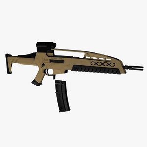 xm8 assault rifle 3d max