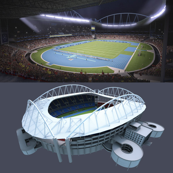 soccer olympic stadium 3d model