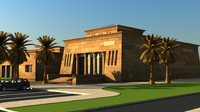 3d model egyptian building landscape