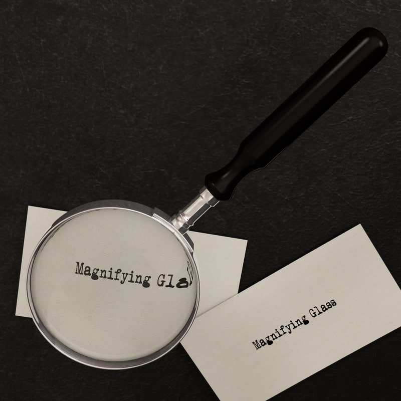 magnifying glass obj