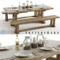 set pottery barn stafford 3d model