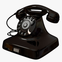 phone 1940 telephone 3d model