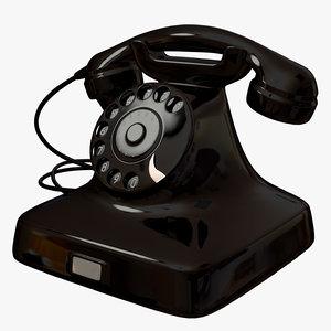 phone 1940 telephone 3d model