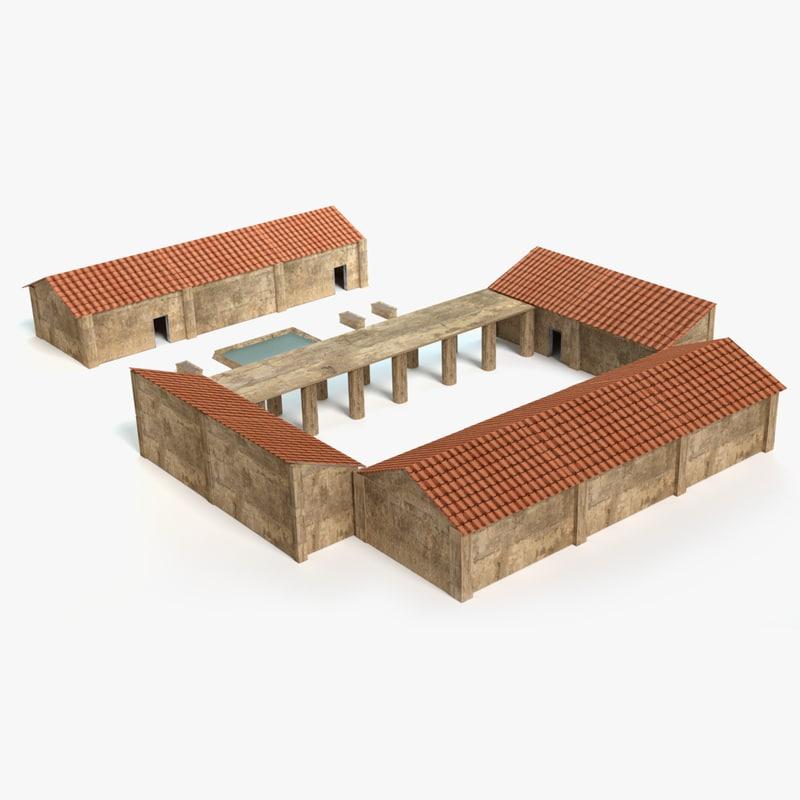 roman village 3d 3ds