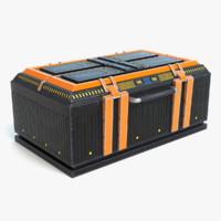 ready sci-fi crate 3d model