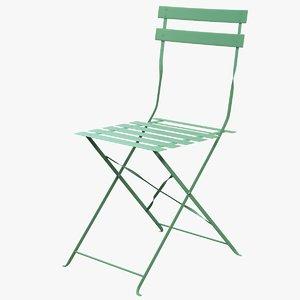 3d max folding garden chair guinguette