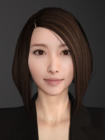 3d model sexy asian female secretary