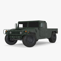 hmmwv m998 rigged 3d model