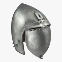 3d model of klappvisier bascinet helmet