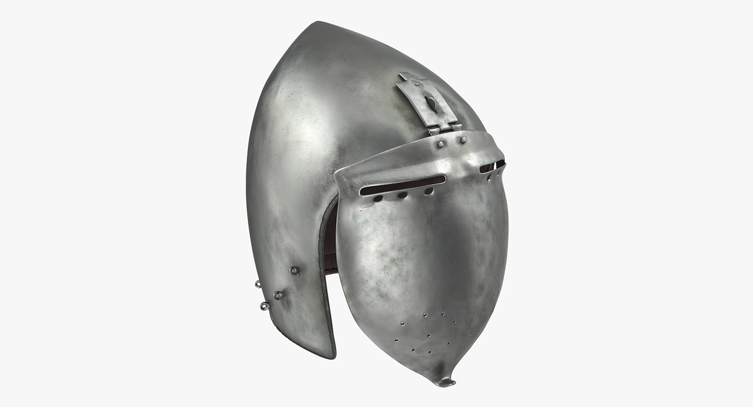 3d model of klappvisier bascinet helmet