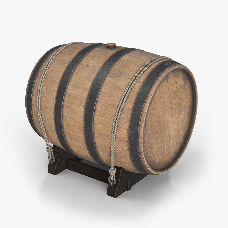 3d water barrel model