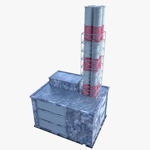 3d realistic boiler house model