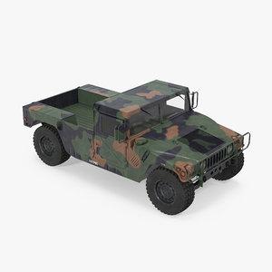 hmmwv m998 camo 3d model