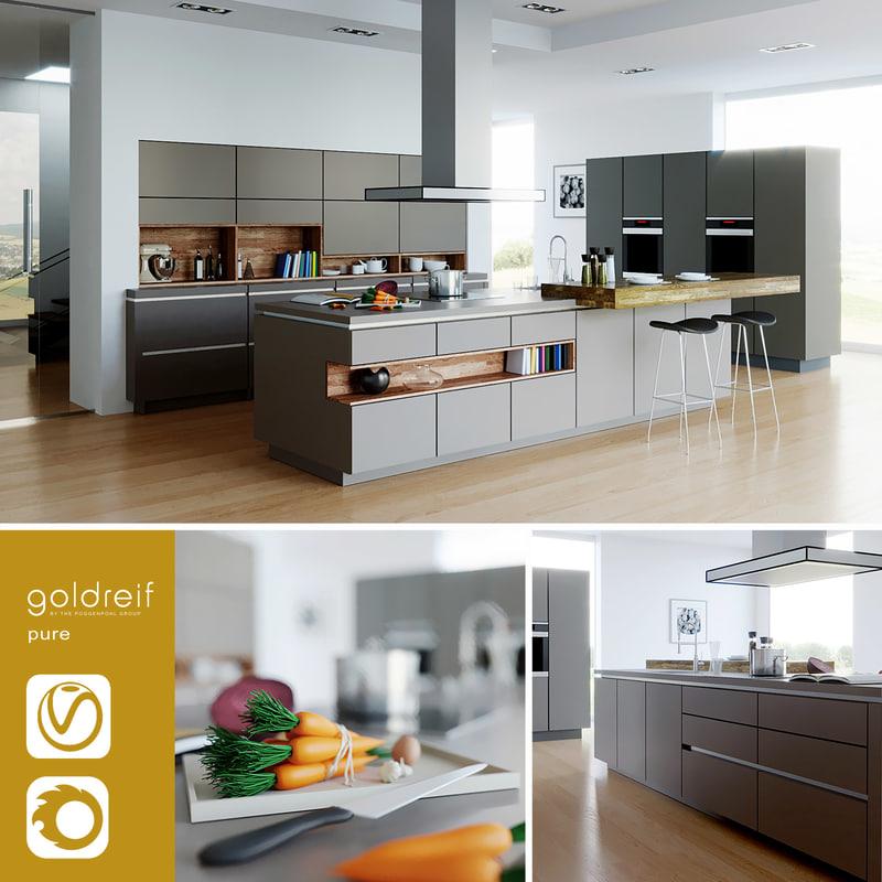 Goldreif by Poggenpohl Pure Kitchen (vray+corona)
