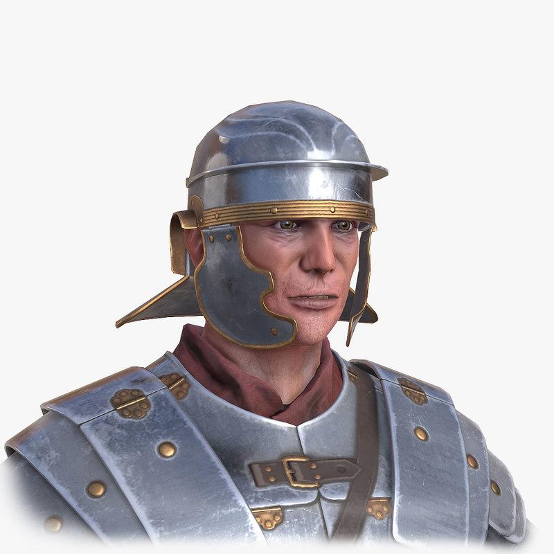 historical roman legionnaire c4d