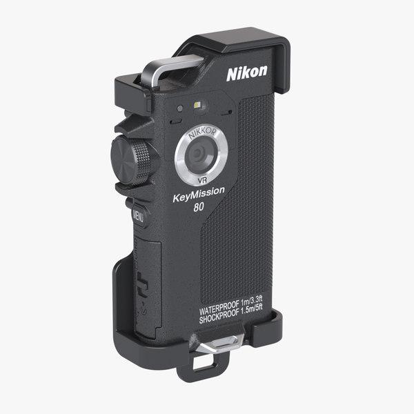 photoreal nikon keymission 80 3d max
