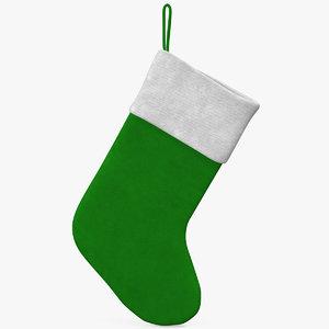 christmas sock 3 3d obj