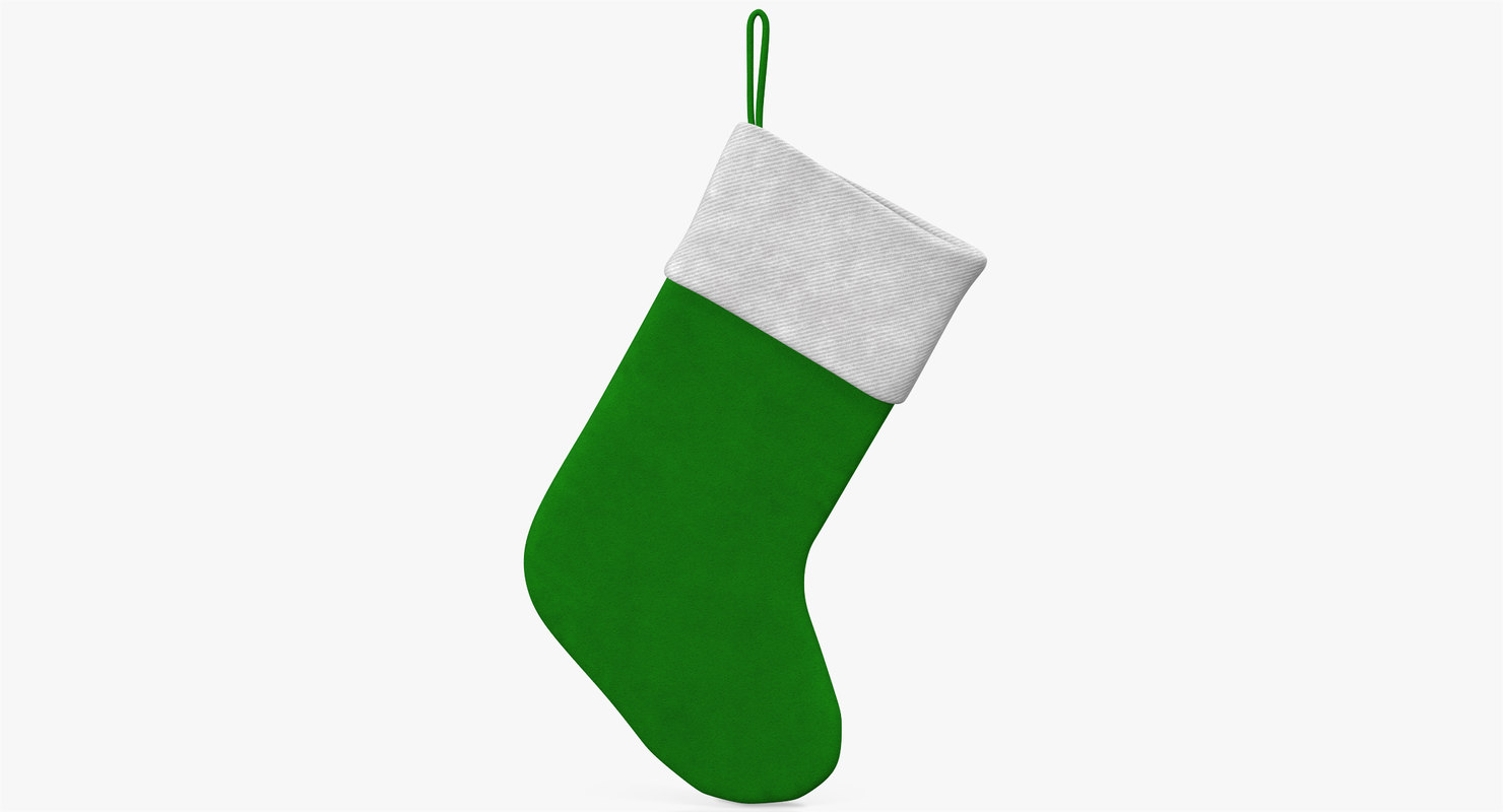 christmas sock 3 3d obj