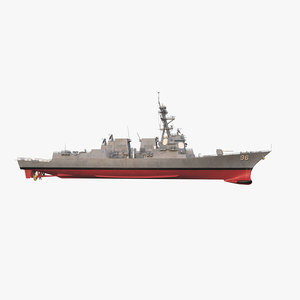 3d uss bainbridge ddg 96 model