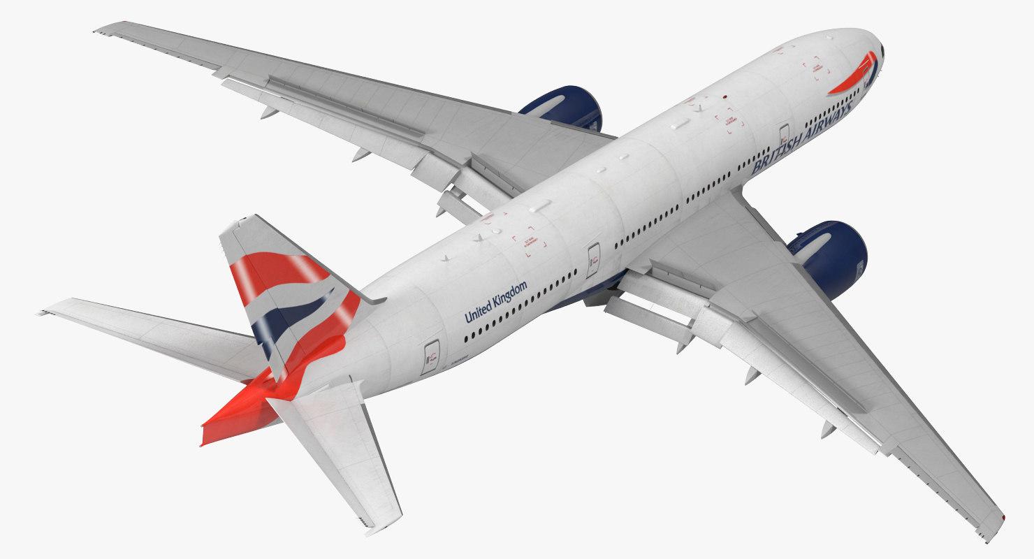 boeing 777-200 british airways 3d model