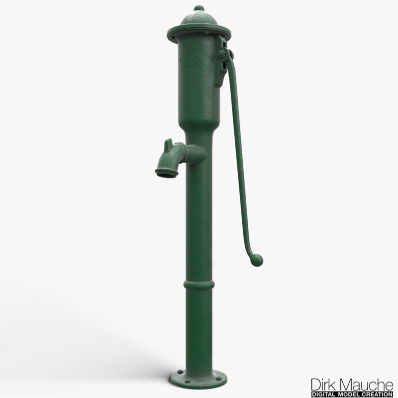 cast iron water pump 3d ma