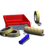 3d roller brush tape tray