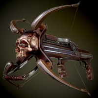 3d crossbow animation ready model