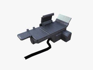 3d model sci-fi monitor