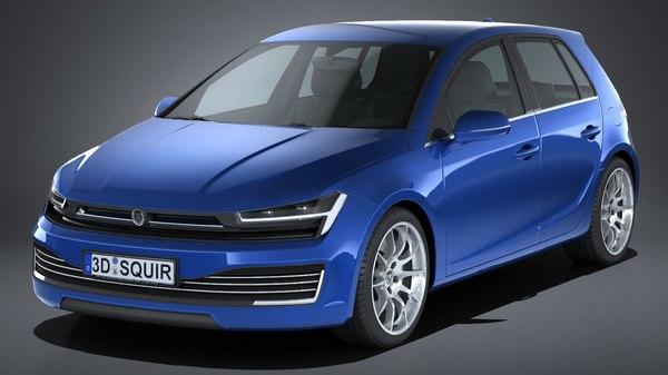 generic hatchback 2017 3d x