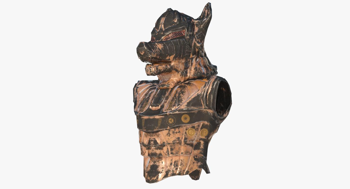 dog head armour max