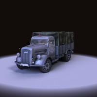3d model opel blitz