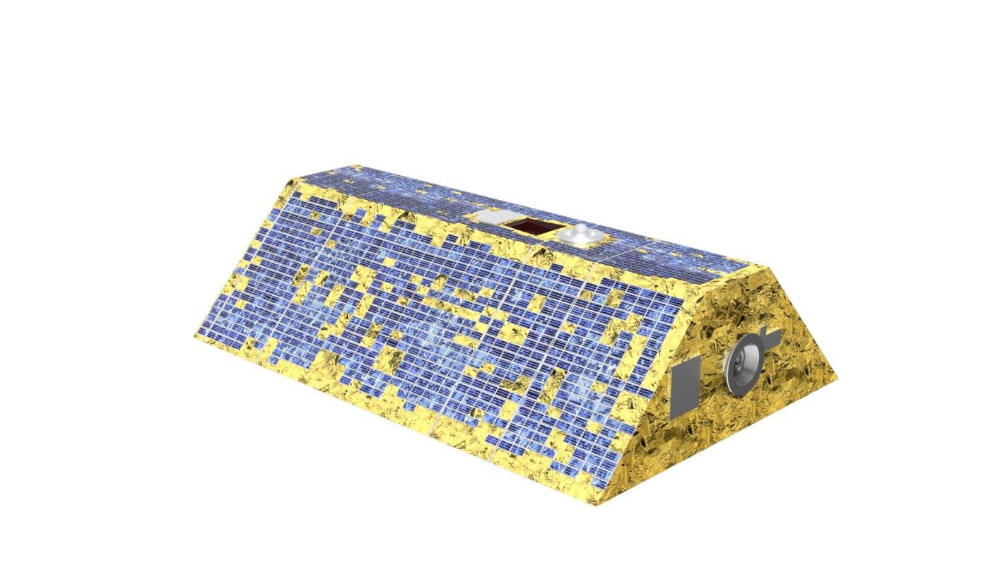 3d model earth observation satellite grace