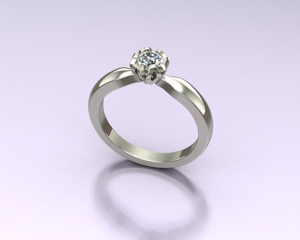 3d engagment ring model