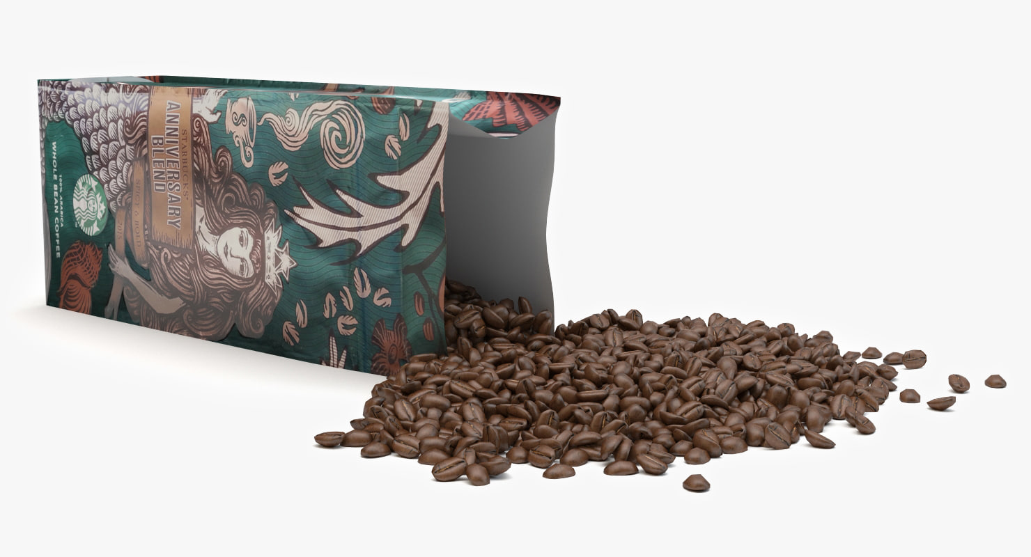 starbucks coffee bean 3d max