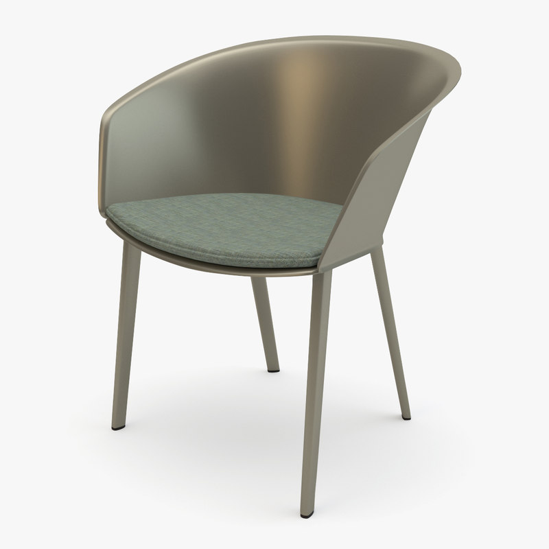 3d kettal stampa solid chair