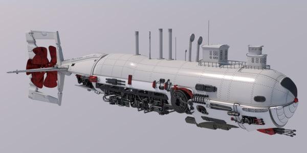 obj big white airship