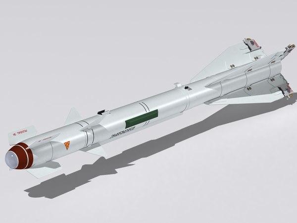 3d model r-60 m missile