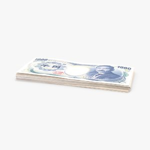 max 1000 yen note stack