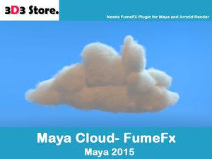 cloud fumefx 3d model