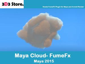 3d cloud fumefx model