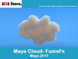 3d model cloud fumefx