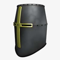 3ds templers knight helmet