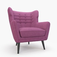 kubrick lounge armchair 3d model