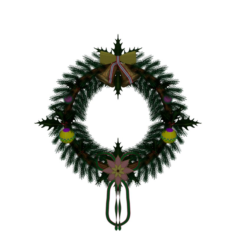 blend christmas wreath