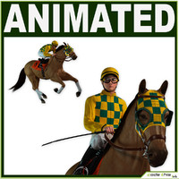 3d animations jockey