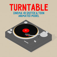 3d model turntable sketch toon