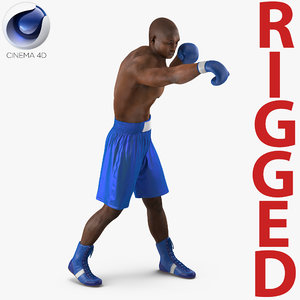 african american boxer 2 3d c4d