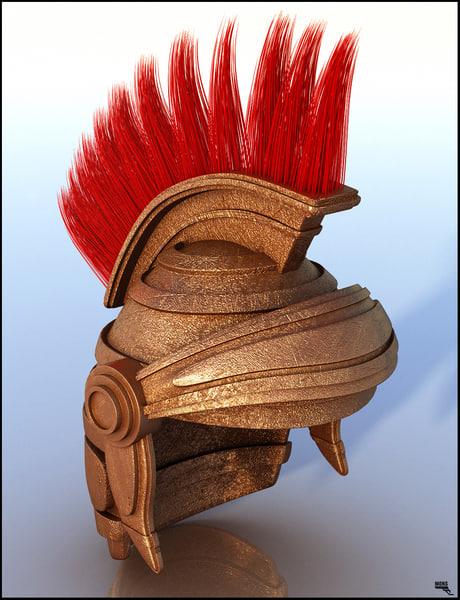 helmet roman centurion 3d model