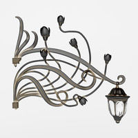 wrought iron lamp 3d model