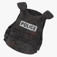 Bloody Police Riot Gear - Bulletproof Vest Laying